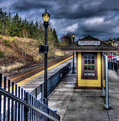 Photograph - Oregon City Train Depot by Thom Zehrfeld