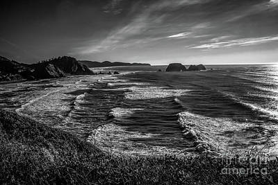 Photograph - Oregon Coast At Sunset by Jon Burch Photography