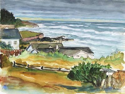 Oregon Coast Art Print by Ethel Vrana