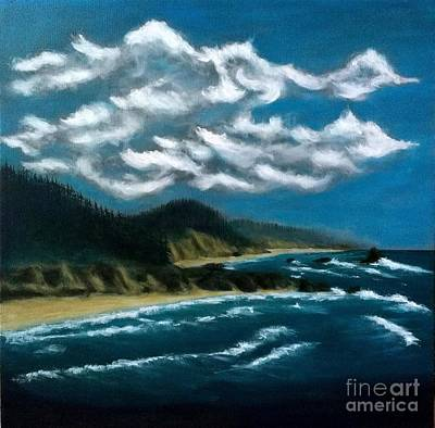 Painting - Oregon Coast by John Lyes