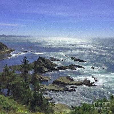 Painting - Oregon Coast by Joseph J Stevens