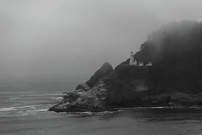 Photograph - Oregon Coast Lighthouse by Lawrence S Richardson Jr