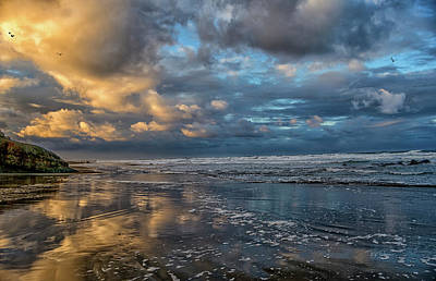 Photograph - Oregon Coast Reflections by Bill Posner
