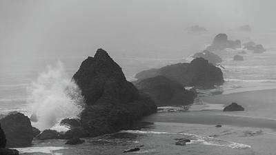 Photograph - Oregon Coast Rock Splash by Lawrence S Richardson Jr