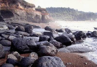 Oregon Coast Rocks Art Print