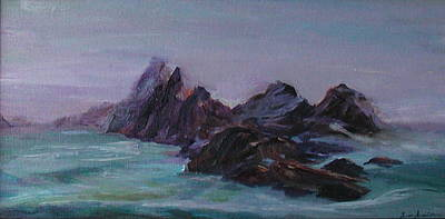 Water Painting - Oregon Coast Seal Rock Mist by Quin Sweetman