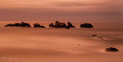 Photograph - Oregon Coast Sunset - 8712,s by Wally Hampton