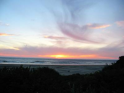 Oregon Coast Sunset Art Print by Mirinda Kossoff