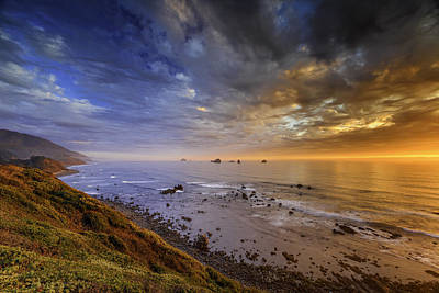 Photograph - Oregon Coast Sunset by PhotoWorks By Don Hoekwater