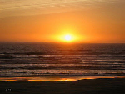 Photograph - Oregon Coast Sunset  by Tyra OBryant