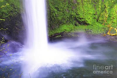 Photograph - Oregon Colorful Waterfall Landscape by Andrea Hazel Ihlefeld