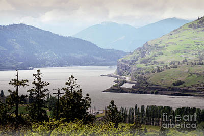 Photograph - Oregon Columbia River Gorge Mountain Clouds by Andrea Hazel Ihlefeld