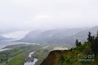 Photograph - Oregon Columbia River Gorge Mountains by Andrea Hazel Ihlefeld