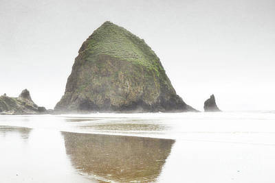 Photograph - Oregon Dreamy Haystack Rock Landscape by Andrea Hazel Ihlefeld