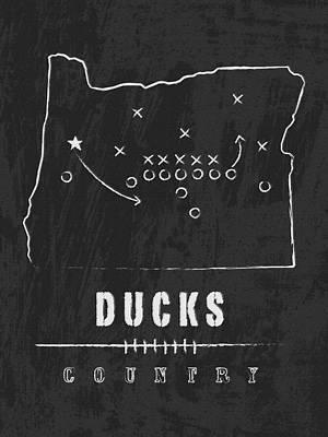 Oregon Ducks Country Art Print by Damon Gray