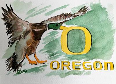 Painting - Oregon Ducks by Elaine Duras