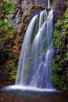 Oregon Falls Art Print by Scott Mahon