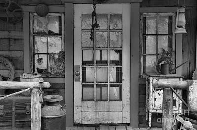 Photograph - Oregon Ghost Town Black And White by Adam Jewell