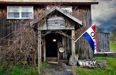 Photograph - Oregon Hill Winery by Stephanie Calhoun