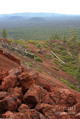Photograph - Oregon Landscape - Red Rocks At Lava Butte by Carol Groenen
