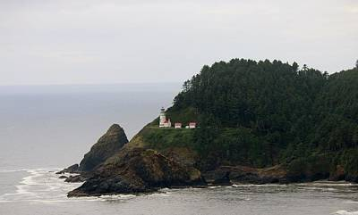 Photograph - Oregon Lighthouse - 2 by Christy Pooschke
