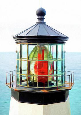 Mixed Media - Oregon Lighthouse by Dennis Cox Photo Explorer