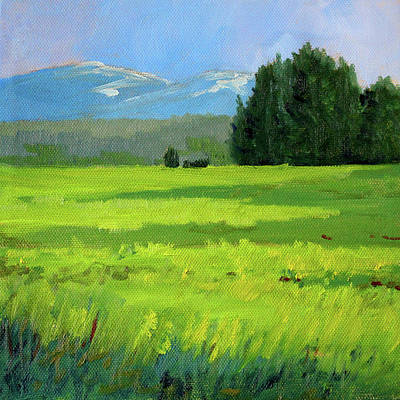 Painting - Oregon Meadow by Nancy Merkle