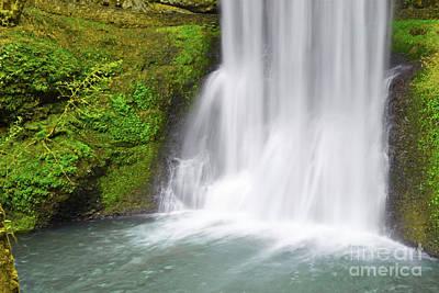 Photograph - Oregon Mountain Waterfall Moss Landscape by Andrea Hazel Ihlefeld