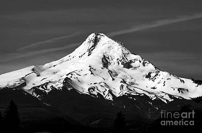 Photograph - Oregon - Mt. Hood Monochrome by Terry Elniski