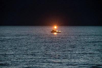 Photograph - Oregon Night Fishing by Tom Singleton