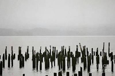 Photograph - Oregon Pier Ocean Landscape by Andrea Hazel Ihlefeld