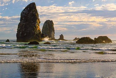 Photograph - Oregon Sea Stacks by Keith Boone