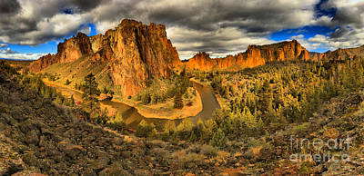 Photograph - Oregon Smith Rock Panorama by Adam Jewell