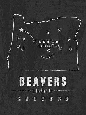 Beaver Digital Art - Oregon State Beavers Country by Damon Gray