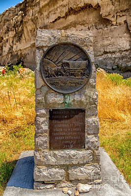 Photograph - Oregon Trail Marker by Jon Burch Photography
