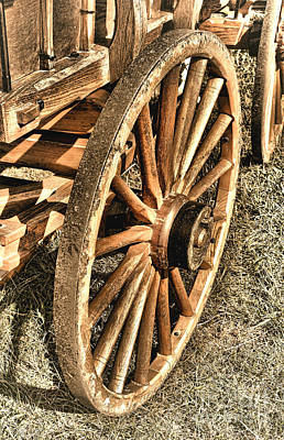 Wagon Wheels Photograph - Oregon Trail  by Olivier Le Queinec