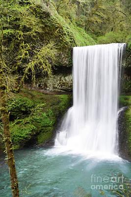 Photograph - Oregon Waterfall Mountain Landscape by Andrea Hazel Ihlefeld