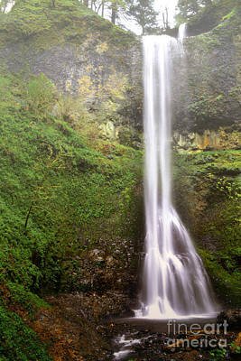 Photograph - Oregon Waterfall Rustic Mountain Landscape by Andrea Hazel Ihlefeld