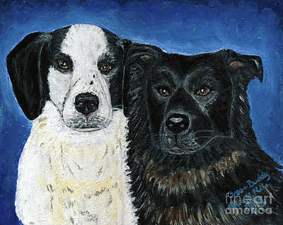 Painting - Oreo And Buddy by Ania M Milo