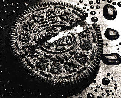 Close Up Photograph - Oreo Cookie by Nancy Mueller