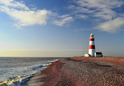 Orford Ness Lighthouse Art Print by Photo by Andrew Boxall