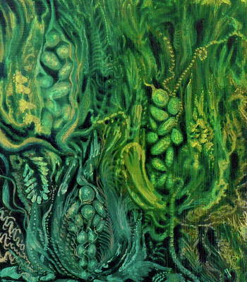 Wa Painting - Organic Embrace In Green by Adrienne Martino