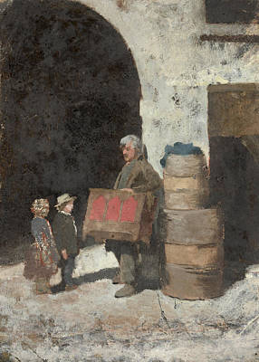 Negro Painting - Organ Grinder  by Celestial Images