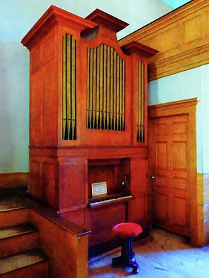 Organ In Church Art Print by Susan Savad