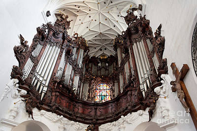 Holy Trinity Cathedral Photograph - Organ In Gdansk Oliwa Archcathedral by Arletta Cwalina