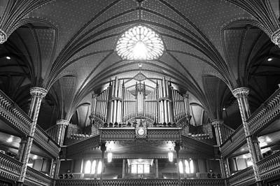 Photograph - Organ Inside The Notre Dame Montreal by For Ninety One Days