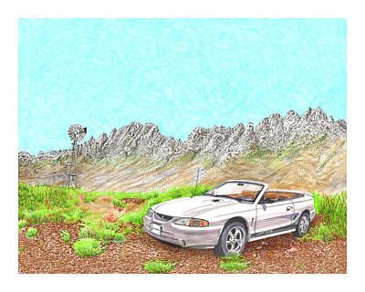 Painting - Organ Mountain Mustang by Jack Pumphrey