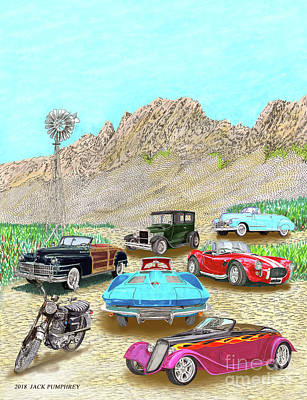 Painting - Organ Mountain Show And Shine by Jack Pumphrey