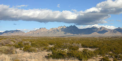 Las Cruces Photograph - Organ Mountain Stormy Panorama by Jack Pumphrey