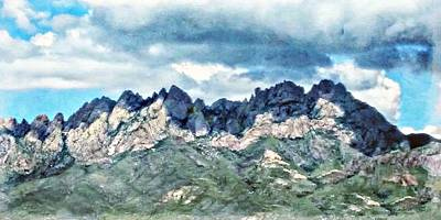 Las Cruces Painting - Organ Mountain's Cloud Shadows by Barbara Chichester